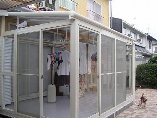 サンルーム 増築 施工例 洗濯物 ほせるんです (7).jpg