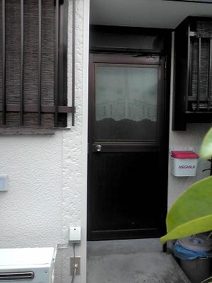 断熱工事 施工例 台所 ドア 勝手口 ツインカーボ取り付け 佐賀.jpg
