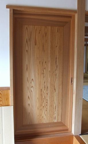 引き戸取り付け 木製建具 ...